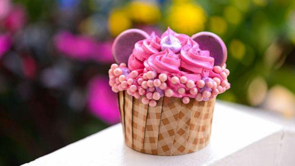PHOTO: In this undated photo, an Imagination Pink cupcake is shown. (Disney Parks)