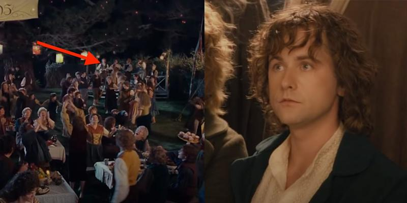 Pippin at Bilbo's birthday party band Lord of the Rings The Fellowship of the Ring New Line Cinema