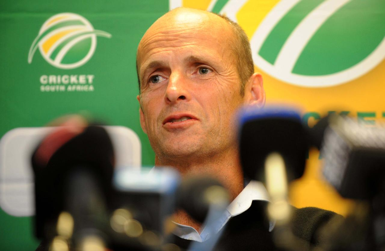 JOHANNESBURG, SOUTH AFRICA - MAY 10:  Protea Coach Gary Kirsten during the CSA press conference at ACSA Media Centre on May 10, 2013 in Johannesburg, South Africa. (Photo by Lee Warren/Gallo Images)