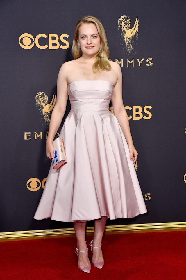 Actor Elisabeth Moss attends the 69th Annual Primetime Emmy Awards. (Frazer Harrison via Getty Images)