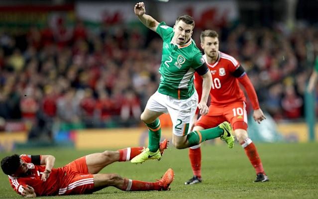 <span>Seamus Coleman suffered a nasty injury because of the tackle</span> <span>Credit: REX FEATURES </span>