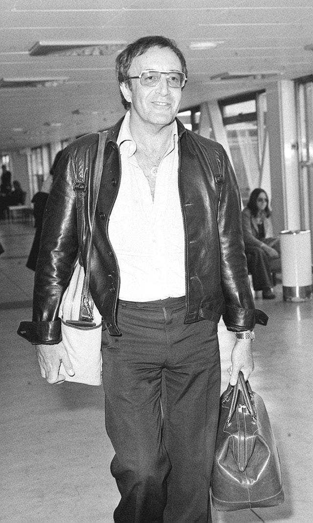 Peter Sellers at Heathrow.
