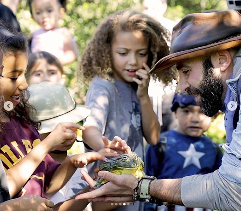 North West (L) and other kids with Coyote Peterson