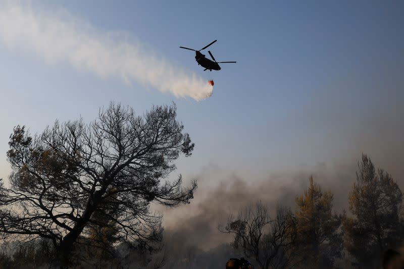 Wildfire erupts north of Athens