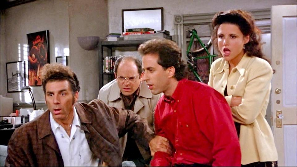 <p> <strong>Number of episodes:</strong>&#xA0;180 </p> <p> If you haven&#x2019;t watched Seinfeld yet, then shame on you. But still: whether you&#x2019;re a first-timer or rewatching it over and over again, there is no better way to kill time than<em>&#xA0;</em>Seinfeld. Known as the &#x201C;show about nothing&#x201D;, Larry David and Jerry Seinfeld&#x2019;s Seinfeld birthed modern comedy as we know it. Without Seinfeld, there would be no Friends, no It&#x2019;s Always Sunny in Philadelphia, no anything where the characters get away with just mooching about and arguing with one another. </p> <p> Which is really why Seinfeld is ideal. For one, Seinfeld, Elaine (Julia Louis-Dreyfus), and George (Jason Alexander) really do&#xA0;<em>nothing,&#xA0;</em>and avoid doing anything if they can help it. They don&#x2019;t like socialising, work, or each other, really. It is all about the many ways we can waste time and avoid people. Plus, Seinfeld, like David, is a germaphobe and averse to human contact: who better for the mascot of the pandemic? </p>