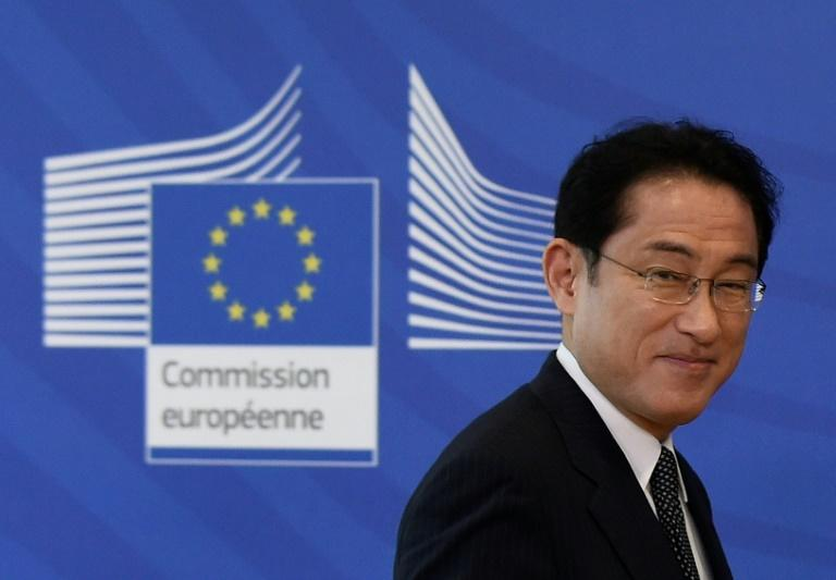 Japanese Foreign Minister Fumio Kishida pledged $1 billion Monday to UN efforts to help chidlren and youth in developing countries