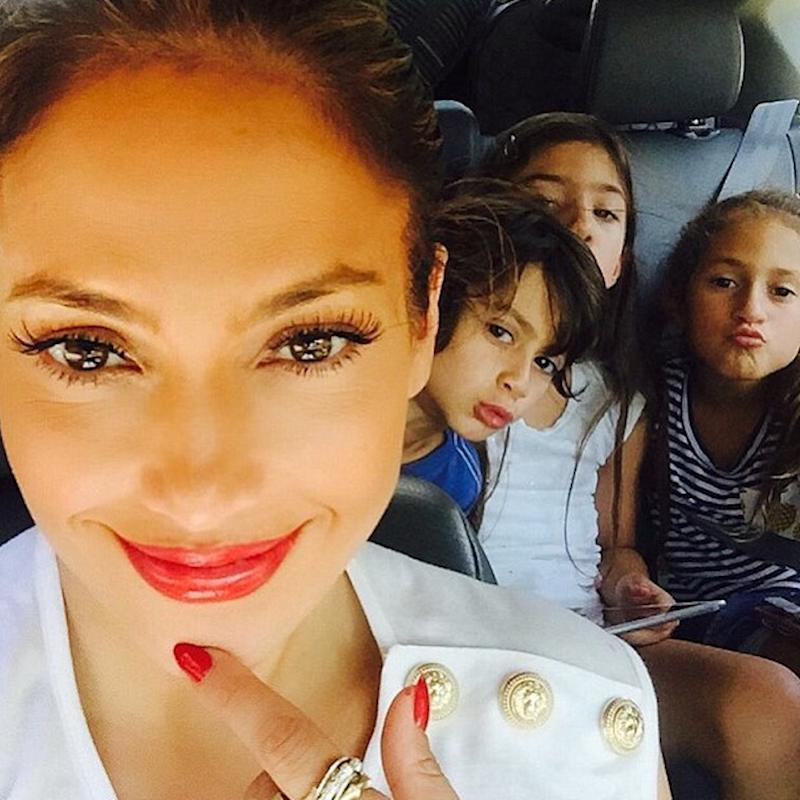 Jennifer Lopez has two twin children with ex-husband Marc Anthony (Copyright: Instagram/JLo)