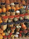 """<p>Farmer's markets rotate out produce seasonally, which means you can find unique and tasty picks in the fall to add to your roasts and <a href=""""https://www.oprahmag.com/life/food/g28183294/best-fall-desserts/"""" rel=""""nofollow noopener"""" target=""""_blank"""" data-ylk=""""slk:desserts"""" class=""""link rapid-noclick-resp"""">desserts</a>: look for things like Jerusalem artichokes, cranberries, figs, pomegranates, and of course, apples and (yep) pumpkins.<br></p>"""