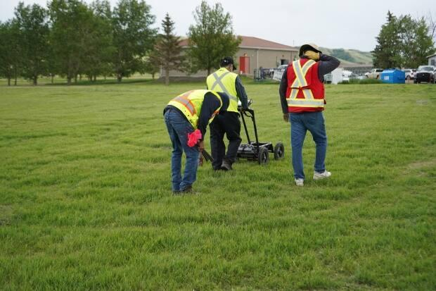 Ground penetrating radar is being used to discover unmarked grades at former residential schools across Canada.  (Submitted by Cowessess First Nation - image credit)