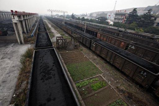 Processed coal is ready to be transported from a processing plant in China in 2011