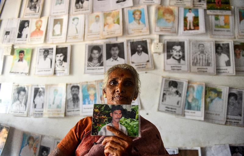 Thousands of Sri Lankans are still trying to find out the fate of their loved ones (AFP Photo/ISHARA S. KODIKARA)