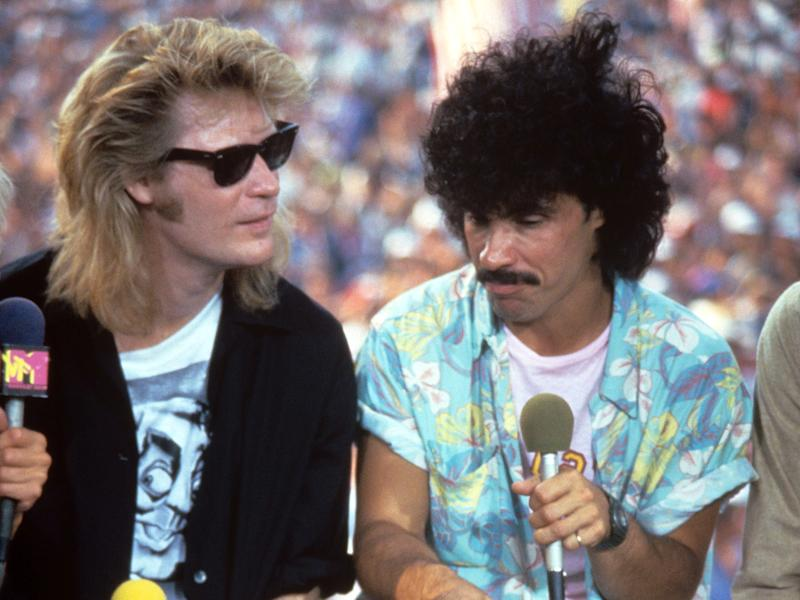 The pair at Live Aid in 1985Rex/Shutterstock