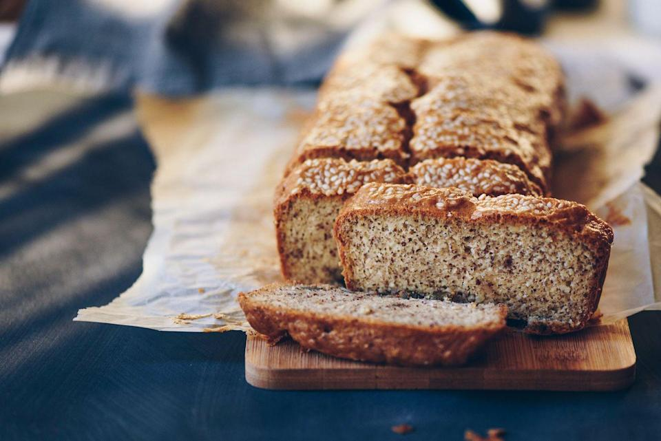 """<p>If something like a loaf of bread says """"made with whole grains,"""" this could mean that only a small part of that bread is made with whole grains. According to the Whole Grain Council, <a href=""""https://wholegrainscouncil.org/whole-grains-101/identifying-whole-grain-products"""" rel=""""nofollow noopener"""" target=""""_blank"""" data-ylk=""""slk:&quot;whole grains&quot; can be stamped onto any product"""" class=""""link rapid-noclick-resp"""">""""whole grains"""" can be stamped onto any product</a> with just a tiny amount of whole grains in it, meaning the produce may not be any healthier than it seems. Look for """"100% whole grains"""" instead.</p>"""