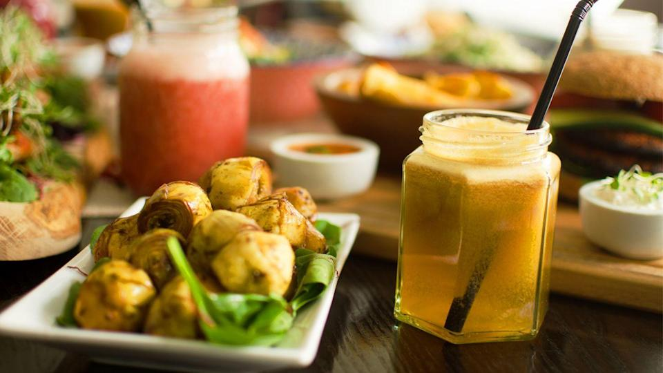 """<p><span class=""""redactor-invisible-space"""">Selling 100 per cent vegan foods, this West Kensington eaterie sells everything from bean and tofu pancakes, raw asparagus spears and a vegan roast. </span></p><p><span class=""""redactor-invisible-space"""">For huge portions of mains and desserts, this is your place to go to. Try seitan stroganoff, spaghetti and meatballs, and medallions and mash. </span><span class=""""redactor-invisible-space""""><br></span></p><p><span class=""""redactor-invisible-space"""">Desserts include tofu cheesecakes, raw chocolate tortes and vegan ice cream. Can you get any better?</span></p><p>For more info, <a href=""""http://www.222veggievegan.com/"""" rel=""""nofollow noopener"""" target=""""_blank"""" data-ylk=""""slk:click here"""" class=""""link rapid-noclick-resp"""">click here</a>.</p>"""