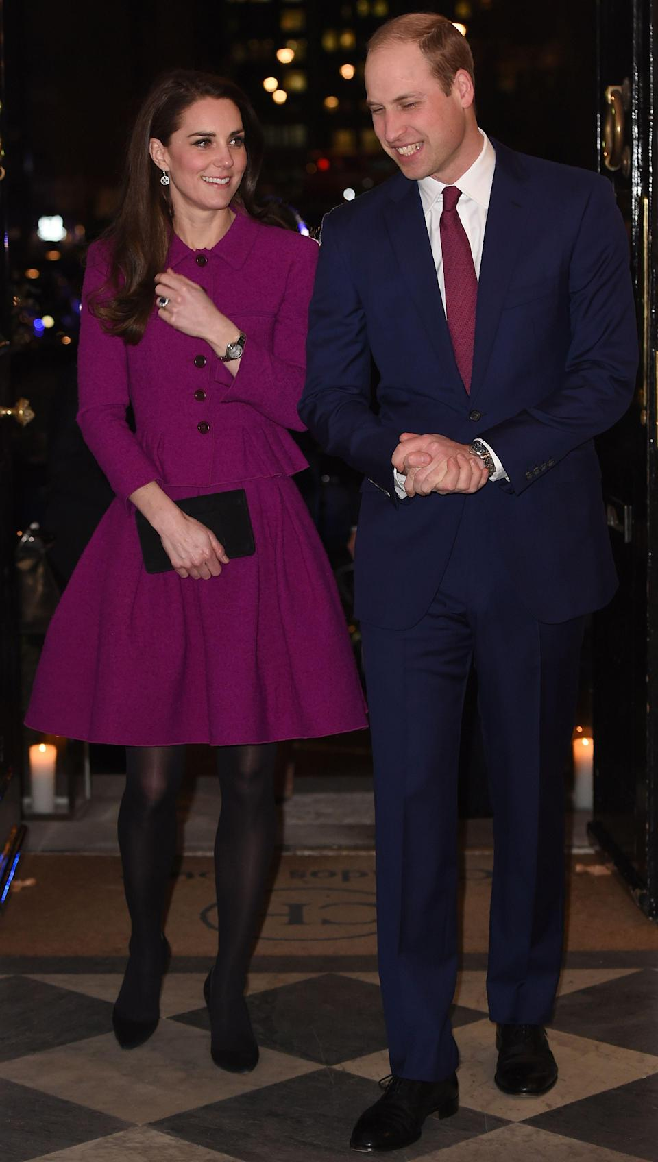 The Duchess of Cambridge first wore the ensemble back in February 2017 for the UK Guild of Health Writers conference [Photo: Getty]