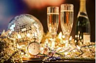 """<p>With the end of the year right (finally) around the corner, it's time to make some (likely quieter than usual) plans for your <a href=""""https://www.goodhousekeeping.com/holidays/g25645755/new-years-eve-party-ideas/"""" rel=""""nofollow noopener"""" target=""""_blank"""" data-ylk=""""slk:New Year's Eve party"""" class=""""link rapid-noclick-resp"""">New Year's Eve party</a> There will be the typical essentials like champagne and confetti, of course, but everyone knows that a great night always has a theme — and your NYE bash is no exception (even if it's in the comfort of your own home)! Creative, fun New Year's Eve party themes set the tone for the entire night, after all — and your last night of 2020 obviously wouldn't be complete without the best on-theme <a href=""""https://www.goodhousekeeping.com/holidays/g29785073/best-new-years-eve-decorations/"""" rel=""""nofollow noopener"""" target=""""_blank"""" data-ylk=""""slk:New Year's Eve party decorations"""" class=""""link rapid-noclick-resp"""">New Year's Eve party decorations</a> and photo props (and clever <a href=""""https://www.goodhousekeeping.com/holidays/a29962406/new-year-instagram-captions/"""" rel=""""nofollow noopener"""" target=""""_blank"""" data-ylk=""""slk:New Year's Instagram captions"""" class=""""link rapid-noclick-resp"""">New Year's Instagram captions</a>!) for all of your confetti-filled New Year's pics. <br></p><p>So if you're feeling fresh out of original ideas this year, consider yourself lucky, because we've rounded up the best, most creative New Year's Eve at-home party theme's for a night you and your pod won't ever forget. Whether you're looking for a lavish dinner party with your loved ones, or a more low-key pajamas-themed celebration, these amazing party themes will definitely keep the spirit alive until midnight. </p>"""