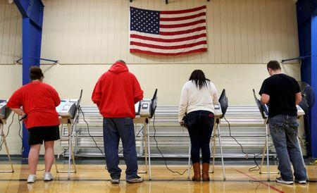 File Photo: Voters cast their votes during the U.S. presidential election in Ohio