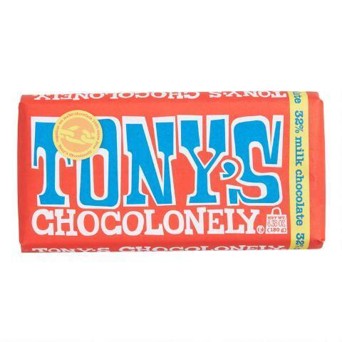 """<h2>Tony's Chocolonely Milk Chocolate Bar</h2><br>Sure, chocolate makes for a traditional Valentine's Day gift — and your social-good-minded pal will definitely appreciate a bar made from Fair Trade-certified cacao beans.<br><br><em>Shop <strong><a href=""""https://www.worldmarket.com/"""" rel=""""nofollow noopener"""" target=""""_blank"""" data-ylk=""""slk:World Market"""" class=""""link rapid-noclick-resp"""">World Market</a></strong></em><br><br><strong>Tony's Chocolonely</strong> Milk Chocolate Bar, $, available at <a href=""""https://go.skimresources.com/?id=30283X879131&url=https%3A%2F%2Fwww.worldmarket.com%2Fcategory%2Ffood-and-drink%2Ffood%2Fcandy-chocolate%2Fchocolate-bars.do"""" rel=""""nofollow noopener"""" target=""""_blank"""" data-ylk=""""slk:World Market"""" class=""""link rapid-noclick-resp"""">World Market</a>"""