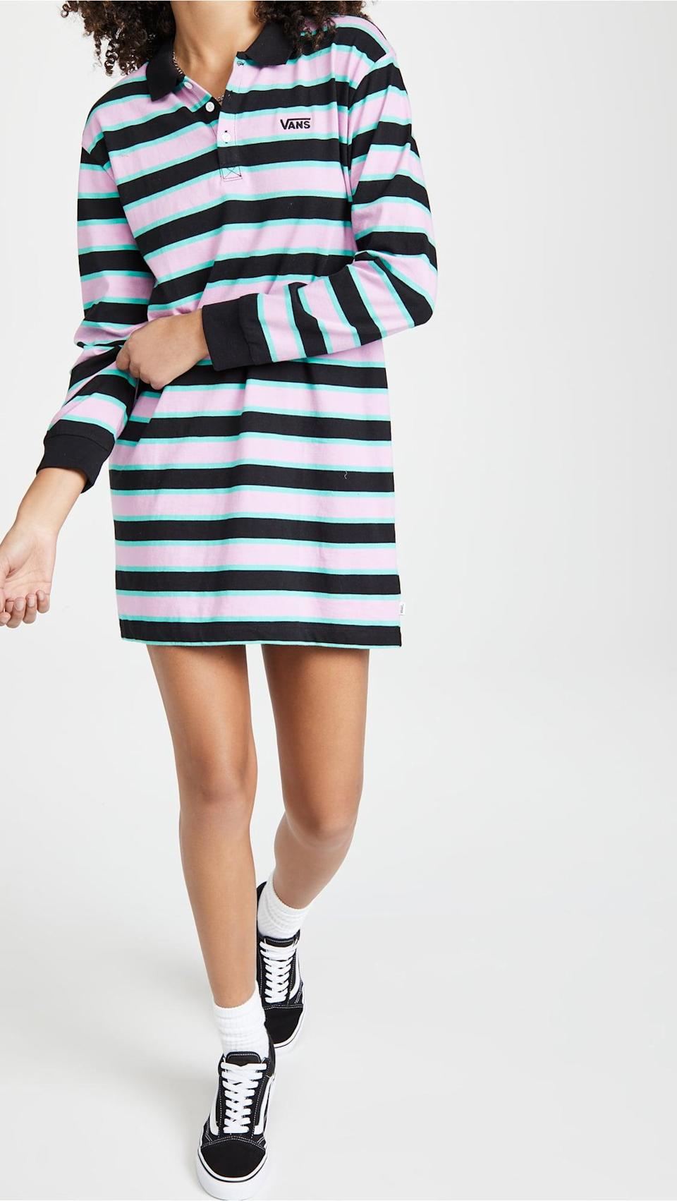 <p>This <span>Vans Stripe Polo Dress</span> ($55) is a fresh and effortlessly cool option for casual hangouts.</p>