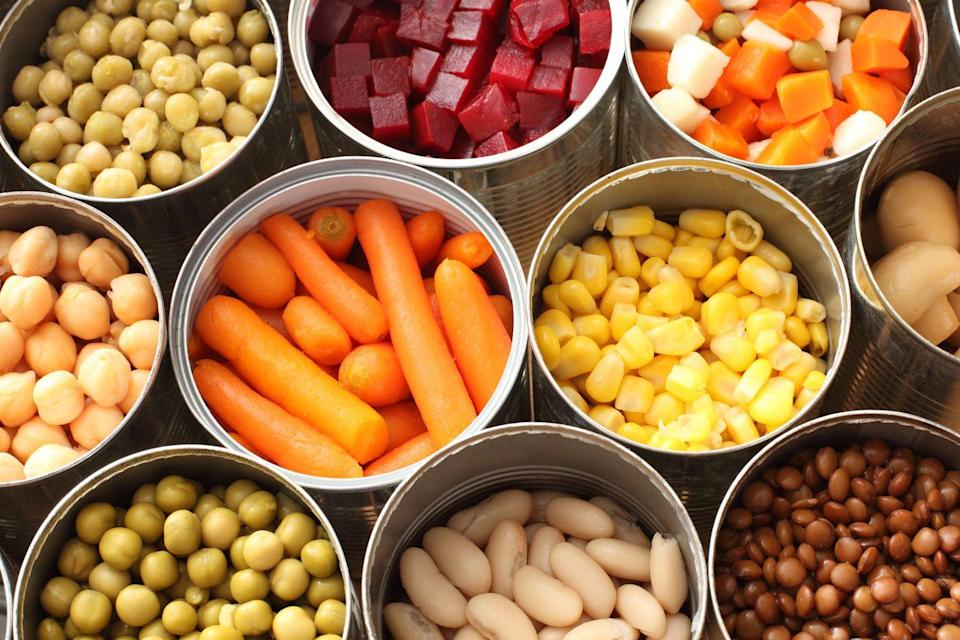 "<p>Veggies <em>can </em>fall under the same trap. </p><p>""This does not apply to all canned vegetables, in fact some may be a great addition to your weekly meals! However some canned vegetable products are packaged with excess added sodium which can take a vegetable with no salt and make it have more than a processed snack item,"" says Jenna A. Werner, R.D., creator of <a href=""https://www.happyslimhealthy.com/"" rel=""nofollow noopener"" target=""_blank"" data-ylk=""slk:Happy Slim Healthy"" class=""link rapid-noclick-resp"">Happy Slim Healthy</a>. ""I always advise my clients: <a href=""https://www.prevention.com/food-nutrition/healthy-eating/a20475401/how-to-read-food-labels/"" rel=""nofollow noopener"" target=""_blank"" data-ylk=""slk:Read those labels"" class=""link rapid-noclick-resp"">Read those labels</a>."" </p>"