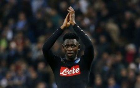 Napoli's Amadou Diawara applauds fans after the game