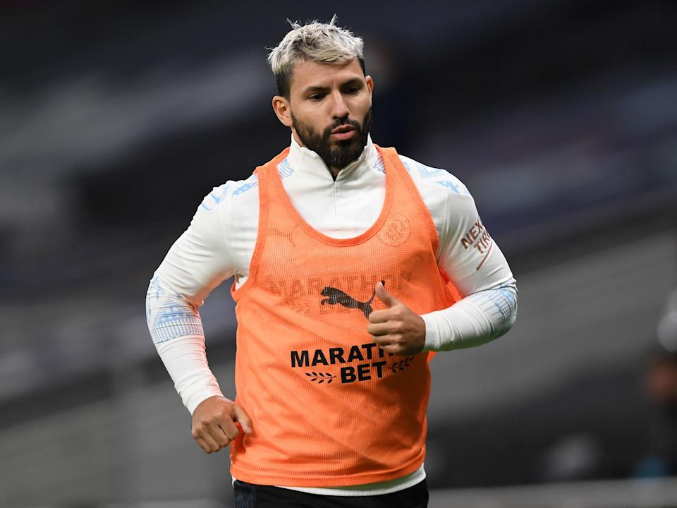 <p>Sergio Aguero was left out due to a knee injury</p>POOL/AFP via Getty Images