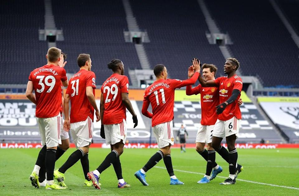 <p>Man Utd will be hoping to keep up their positive run of form this evening</p> (Getty Images)