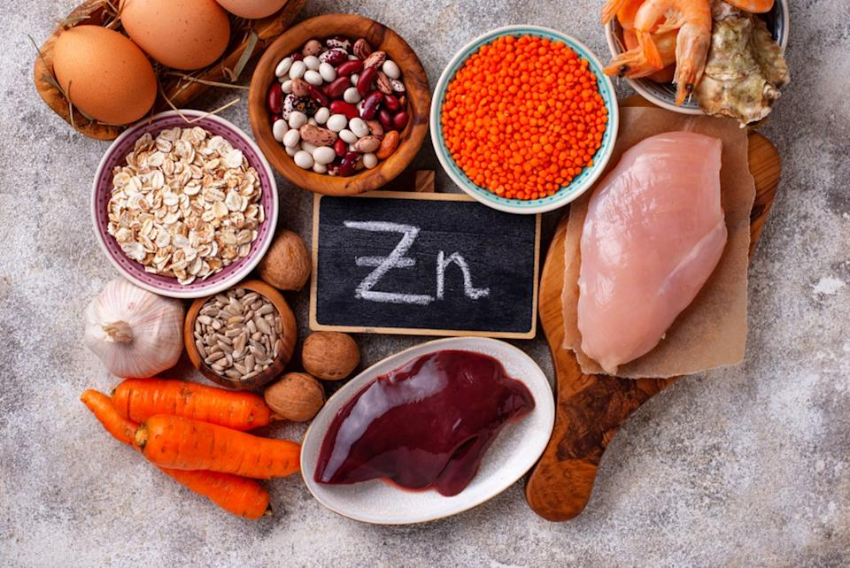 ealthy product sources of zinc, including chicken, liver, shellfish, and eggs