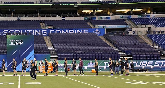 "<p>INDIANAPOLIS — Last Wednesday morning at 5 a.m., two sets of scouting interns were in the bowels of Lucas Oil Stadium, jockeying for position. Weigh-ins for the first group of prospects at the combine would take place later that morning, and the Browns and Chiefs were seeking to lay claim to the seats closest to the stage where over the next four days some 300 players would walk across shirtless and get their measurements taken.</p><p>""It was a battle between us and John to get our front row,"" said Chiefs GM Brett Veach.</p><p>The front-row weigh-in tradition was started in Kansas City by former GM John Dorsey, who was fired by the Chiefs last year and hired in December by the Browns. So it's no surprise those were the two staffs battling it out. It's a rite of passage for the interns to wake up before dawn and head to the stadium to secure the coveted spots. ""John had a couple tricks up his sleeve,"" Veach said in good humor, but both teams ended up with seats in the front row.</p><p>""It's kind of a representation of your staff,"" Veach said. ""We're going to be here, we're going to start early, we're going to finish late. It's more pride for what you do, a tone-setter.""</p><p>This is the combine in a nutshell: Every detail is carefully considered, right down to where people sit, on the off chance that it may matter in the slightest bit. The same is true for the on-field workouts, where team suites and positions at the finish line of the 40-yard dash are assigned via random drawing to ensure a level playing field, while many evaluators have specific seats around the stadium that they've claimed for years, determined by ritual as much as purpose.</p><p>""Habits,"" said Giants GM Dave Gettleman, who has been attending the combine since 1986. ""Just think about it this way: When I was teaching, kids would come in the first day, they'd sit in their spots, and I would never have to do a seating chart. They would be in the same seats every time. We are no different.""</p><p>Ask around the league, and there's a method to the madness of who sits where and why. Here's our scouting report on the rare part of the combine that you may not have heard much about—the seating chart.</p><h3><strong>The Team Suites</strong></h3><p>Three levels above the field, rectangular signs printed in the *NFL font* (you'd know the one we're talking about) mark the suites that belong to each team for the four days of on-field workouts. The Colts, as the home team, always set up in the same suite, at midfield, next to the booth where NFL Network's Rich Eisen and Mike Mayock broadcast the event. Everyone else gets entered into a random drawing, about a month before the combine, for the order in which they'll select their suite location. Measures have been taken in the past to make sure teams know that the drawing is, indeed, random.</p><p>""The first couple years we did it, we kind of laughed because we thought well, [the teams] are going to think we played favorites, so we actually videoed the drawing in our office,"" says Jeff Foster, president of National Football Scouting Inc., which organizes the combine each year. ""More for fun, but sure enough, one of the teams was like, <em>How did you guys do this? Are you sure that this was fair?</em> Because of course they were at the tail end.""</p><p>This year, Pete Carroll, whose Seahawks got the 31st pick of suites, half-jokingly grumbled about their position. ""So I think I'm sitting close to the JW Marriott,"" Carroll said, referring to the downtown hotel that's more than a half-mile away. The first three picks belonged to Denver, Kansas City and Washington, and each club chose spots along the path of the 40-yard dash, which is run along one sideline from the goal line to the 40-yard line. The Seahawks, picking last, ended up on the opposite sideline and on the opposite 20-yard line.</p><p>Once Foster and his staff do the drawing, they call each team in order and ask them to pick their suite from those remaining, like in the old days when you'd call the box office to buy tickets for a show. Teams ask a lot of questions—namely, who' in the suites right next to the one they're interested in. Usually, Foster says, it's because they want to be close to a certain team, rather than not wanting to sit next to someone. But for what it's worth, only two sets of divisional rivals were seated next door to each other this year (Broncos/Chiefs and Bills/Jets). On the other side of the Bills was Carolina, where Buffalo head coach Sean McDermott and GM Brandon Beane both previously worked.</p><p>Position doesn't <em>really</em> matter, because team staffers can venture down wherever they want to go in the stands to get a better look. But many head coaches and GMs stay up in the box, where they can watch close-ups and replays on TV, tap notes on computers and communicate with their staff. ""Last year I needed to be in the suite, because I was still getting to know everyone,"" said Anthony Lynn, now in his second year as Chargers head coach. ""This year, too, because I just haven't been around the scouts enough. I want to get to know them and relate to them. But eventually I want to get down, just for position drills. I could care less about [being close for] the 40."" Lynn took a seat at the high-top counter in the suite, between GM Tom Telesco and college scouting coordinator Kevin Kelly.</p><p>""There used to be a time, before the suites were allocated, when I would go down to the eighth row and sit and watch the floor exercises there,"" said Dorsey, who has the the No. 1 and No. 4 draft picks this year. ""But I can sit in the suites and still effectively do my job. I've gotten lazy in my old age."" (He was clearly joking).</p><p>But the skyboxes aren't just about the action on the field. It's common, too, for business to be conducted at the suite level, where executives can easily visit with other teams away from the peering binocular lenses. In 2016, the Rams and Titans took advantage of being in adjacent suites as they negotiated a trade for the No. 1 pick of the draft. ""You go to the bathroom sometimes, and you see two guys talking, and you think, 'I wonder what the hell they're up to,' "" said Vikings GM Rick Spielman.</p><p><strong><em>UCF LB Shaquem Griffin lit up the combine. Want to learn more? Check out <span>Andy Staples's profile of the inspirational UCF linebacker on SI TV</span>.</em></strong></p><h3><strong>Finish Line of the 40</strong></h3><p>When a player crosses the finish line of the 40-yard dash at the combine, hundreds of eyes inside the stadium—not to mention the viewers at home—are fixated on him. Concentrated at the finish line are rows of area scouts, stopwatch in hand, many with one eye squinted as if they're looking through a telescope lens to focus clearly on an object. The finish is electronically timed, but each team collects its own hand times, too. The closer you are to the finish line, the conventional scouting wisdom goes, the more accurate the time. So, yes, seat assignments at the finish line are also randomly assigned.</p><p>When teams arrive in Indianapolis on the Tuesday of combine week, there's a personnel directors' meeting at the National Football Scouting office on S. Capitol Avenue. As the team reps walk in, each picks up a blank envelope with a number from 1 through 32 inside. That's their row assignment.</p><p>Each row at the stadium is marked with a laminated placard printed with the team's helmet logo and name. The first three rows—this year, the Chargers, Washington and Cincinnati—are positioned on risers on field level, with four folding chairs apiece in each row. From there the teams go back row by row in the stands, filling up Section 141. Oakland pulled No. 32 this year.</p><p>""We have had teams that will trade numbers, and they will actually trade back,"" Foster said. ""I have never asked them what, actually, they are trading. Maybe they are trading a drink at the bar later at night."" (No one we talked to copped to such an exchange).</p><p>Each team places its scouts—as few as two to as many as five scouts—at the finish line. But others prefer to watch the combine's marquee event from a different vantage point. Gettleman sits at the starting line with a notebook and mechanical pencil. ""I like to just watch [the players] get ready,"" he said. ""I like that vantage point."" Sometimes he's joined by his scouts; on Sunday morning, the day the defensive linemen and linebackers worked out, Giants scout Chris Pettit sat one seat over holding a Starbucks coffee cup. ""Anybody who wants to be around a fat old man,"" Gettleman said.</p><p>The best-known combine perch in the NFL is that of Tom Coughlin, man of consistency, who annually claims his seat at the 10-yard line of the 40-yard dash, eight rows up from the field. Chris Driggers, the Jaguars' director of pro personnel, who has been with the team since 1994, held that seat for Coughlin during his first stint in Jacksonville, then through Coughlin's 12 seasons with the Giants, one year at the NFL office, and now with Coughlin back in Jacksonville as the executive vice president of football operations. During the defensive line sprints, Jags coach Doug Marrone joined Coughlin at his spot.</p><p>""I can see the players line up,"" Coughlin said. ""I know the tension that goes along with performing well in that, and it puts me real close to seeing the athlete. And the 10s [the first 10-yard splits] are important to me, too. For most positions—you take the bigger positions—the 10s are really what's most important. Some of the guys that are there now, like Doug Marrone, they're interested in the 10s as well.""</p><h3><strong>Around the Stadium</strong></h3><p>One GM said he likes to go to the end zone to watch the offensive line drills. Another team's PR director said its GM, who was spotted near midfield in the stands, would prefer not to divulge the reason behind where he sits. It could give away a competitive advantage, he reasoned. (""Paranoia in the NFL for $1,000, Alex."") Rams GM Les Snead stays in the suite for the 40-yard dash, then sometimes ventures down to Row 4 or 5 in the stands during position drills. There's something to be gained, he says, from watching how players perform and react live, or even how they're interacting with other players while waiting in line for the vertical jump (Ex: Oklahoma's Baker Mayfield, by our own observation, stood with his arms crossed and mentally taking notes as the first group of quarterbacks completed their throwing drills).</p><p>""That way you get as close to guys as possible,"" Snead said. ""There's a few guys starred that you really want to see. You are always gathering intel, data, to put in the file to help you make a decision. I don't know how much that piece of data weighs, but you are always making notes about something, and sometimes it's not about just how they look working out. If you're watching receivers, it's how athletically the receivers are getting in and out of breaks, how far are they behind in college, because they've still got development to do. But also, let's say a receiver dropped the ball; you might see some kind of language, <em>Uh oh, he hasn't forgotten it yet</em>. Everyone is going to drop a ball, so the key is, it can't bother you for the next time. It's little things like that.""</p><p>Ozzie Newsome, Ravens GM since 2002, has a routine all his own. His perch is at the top of the stadium, in the visitors' coaching booth in the press box, with a crew he's sat with for decades: assistant GM Eric DeCosta; Bengals coach Marvin Lewis; former NFL head coach Ray Rhodes, in past years; and, until this combine, Rick Smith, who took a leave of absence in January from his job as Texans GM.</p><p>""I don't want to give up our secret, but we have for years sat in the visitors' press box, a group of about five or six, based on retirements and some guys getting fired or so forth,"" Newsome said. ""We're down to just three right now. It's right on the 40, and we get a bird's eye view, and we also get the chance to have great conversations.""</p><p>John Lynch, second-year GM of the 49ers, is still honing his scouting routine. Last year's suite placement was less than ideal, he recalled, but the 49ers got the eighth pick this year, and nabbed a spot right across from the finish of the 40-yard dash. ""But I did find myself going, OK, Coughlin has been around a little while, and he sits there,"" Lynch said. ""I'm kind of a newbie here, so I was plotting.""</p><p>Most NFL evaluators likely didn't put this much thought into a seating chart at their own weddings. But in the world of NFL scouting, every little detail is treated like it might make a difference—including where you sit.</p><p><strong><em>Question or comment? </em></strong><em>Email us at <span>talkback@themmqb.com</span>.</em></p>"