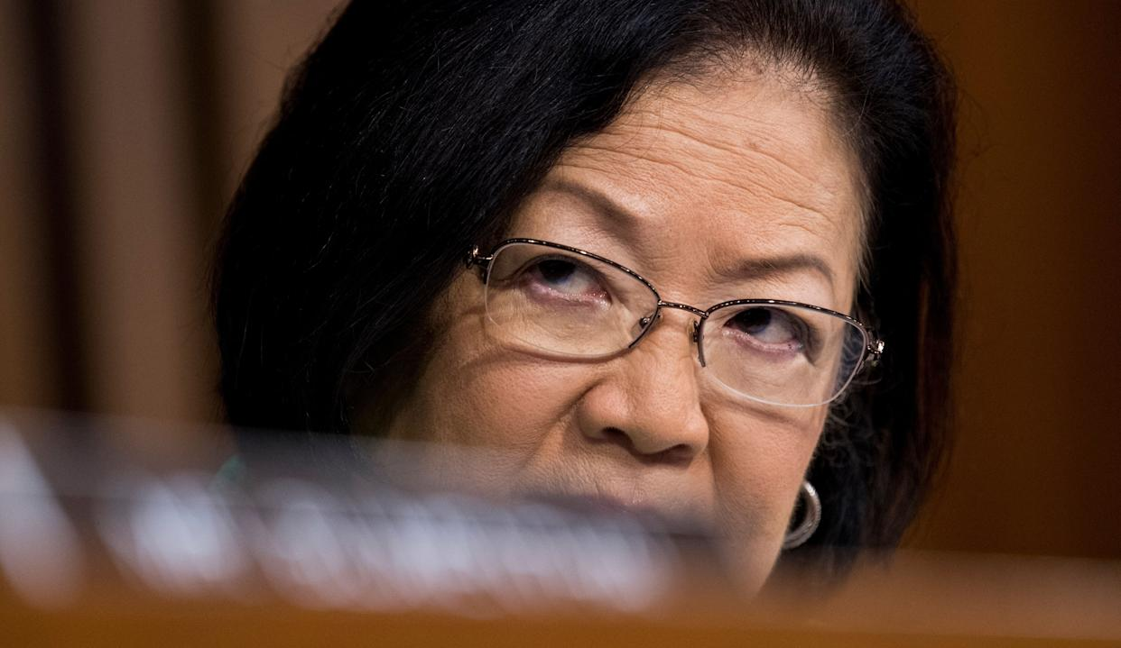 Sen. Mazie Hirono listens during the start of the third day of Brett Kavanaugh's Supreme Court confirmation hearing on Sept. 6. (Photo: Bill Clark/CQ Roll Call via Getty Images)