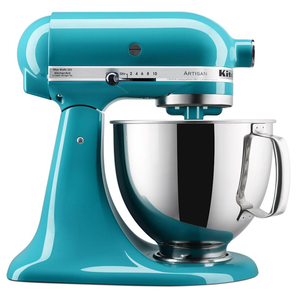 """<p><strong>KitchenAid</strong></p><p>walmart.com</p><p><a href=""""https://go.redirectingat.com?id=74968X1596630&url=https%3A%2F%2Fwww.walmart.com%2Fbrowse%2Fhome%2Fkitchenaid-stand-mixers%2F4044_90548_90546_3995183_4442279_9390196&sref=https%3A%2F%2Fwww.thepioneerwoman.com%2Fholidays-celebrations%2Fgifts%2Fg35821496%2Fbest-mothers-day-gifts-walmart%2F"""" rel=""""nofollow noopener"""" target=""""_blank"""" data-ylk=""""slk:Shop Now"""" class=""""link rapid-noclick-resp"""">Shop Now</a></p><p>A large, five-quart bowl fitted with a """"comfort handle,"""" an easy-to-use tilt-back head, 10 speeds, and thousands upon thousands of happy customers all over the globe? Yep, a KitchenAid Stand Mixer is a kitchen staple—and it's the gift to get your mom if you really want to express your utmost gratitude and love for her this year. </p>"""