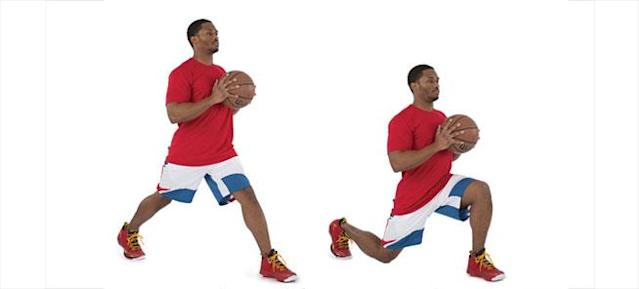 Split Squat With Basketball
