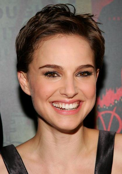 In 2006, Natalie Portman chopped off her hair for her role in V for Vandetta.<br><br>In the photo: Actress Natalie Portman arrives at the Warner Bros. premiere of 'V for Vendetta' at the Rose Theater on March 13, 2006 in New York City. (Photo by Evan Agostini/Getty Images) <br>