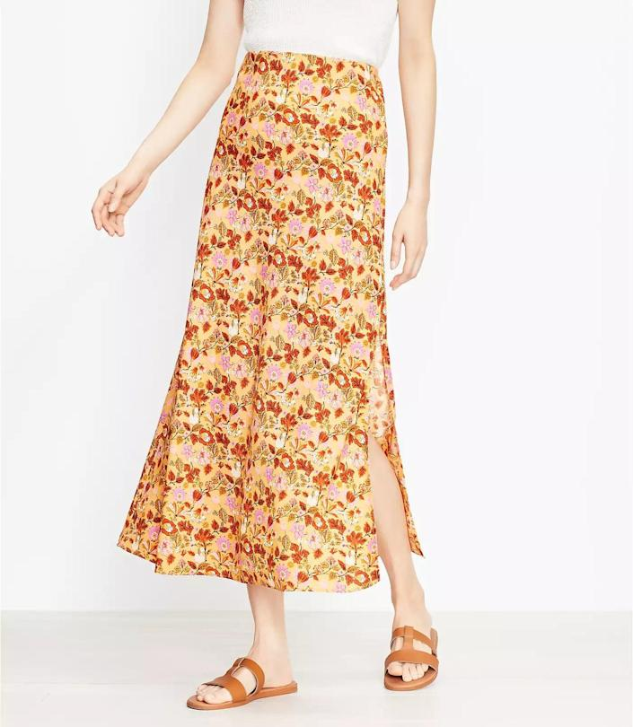 <p>This <span>Loft Garden Pull On Midi Skirt</span> ($90, plus 40 percent off with code WOW) will be easy to slip into (thanks to the pull-on waist) and look effortlessly stylish and romantic. It will boost your mood whenever you wear it.</p>