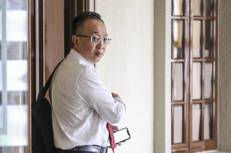 Yeoh Eng Leong, senior vice-president of Ambank's credit card authorisation and fraud management, is pictured at Kuala Lumpur High Court in Kuala Lumpur July 15, 2019. — Picture by Firdaus Latif