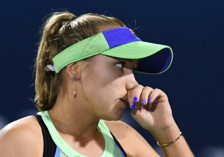 Sofia Kenin was born in Russia before moving to the US as a child (AFP Photo/KARIM SAHIB)