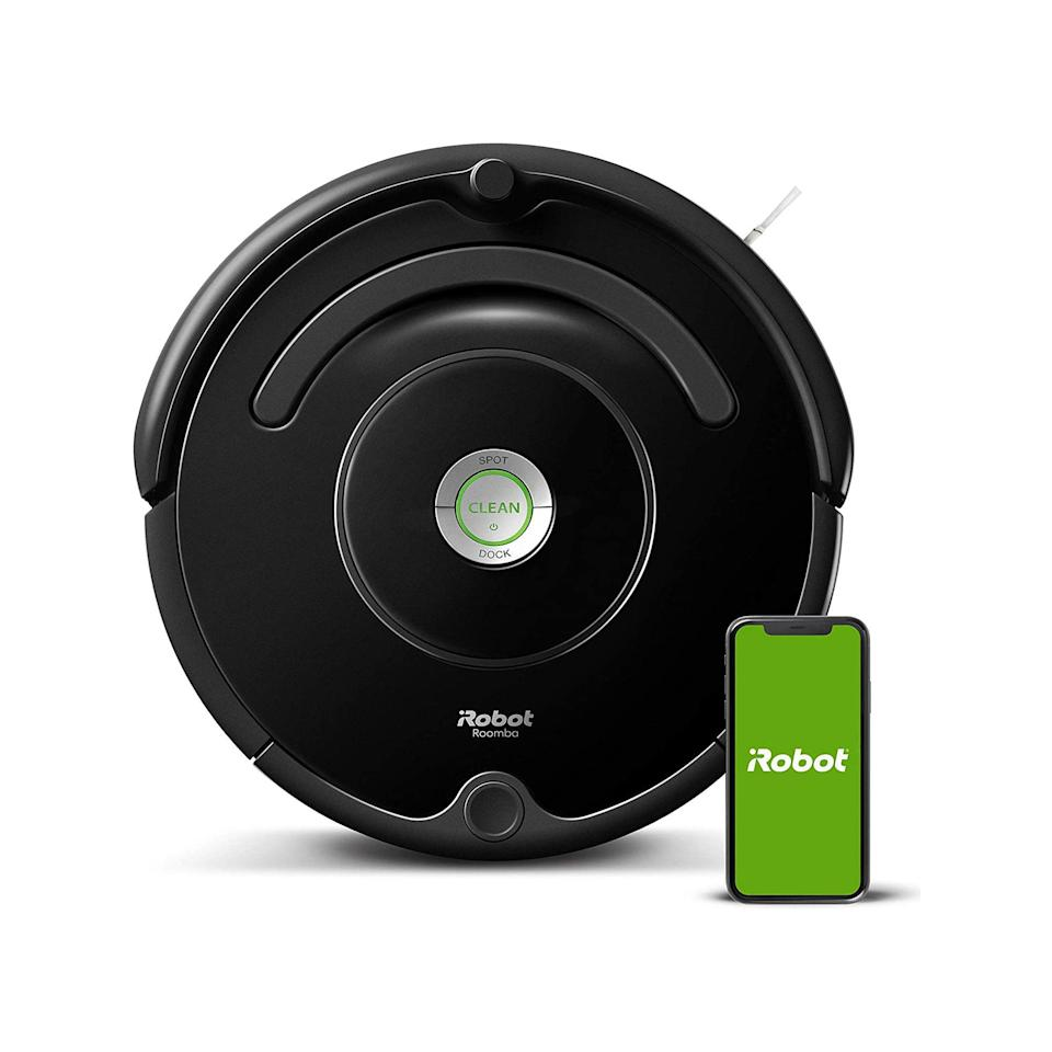 """The top-rated Roomba was a big hit over Prime Day(s) and it's one of the last remaining deals you can still snag at the Zon. Nothing but smooth sailing and Tom Cruise in <em>Risky Business</em> impersonations ahead. $280, Amazon. <a href=""""https://www.amazon.com/iRobot-Roomba-675-Connectivity-Carpets/dp/B07DL4QY5V/ref="""" rel=""""nofollow noopener"""" target=""""_blank"""" data-ylk=""""slk:Get it now!"""" class=""""link rapid-noclick-resp"""">Get it now!</a>"""