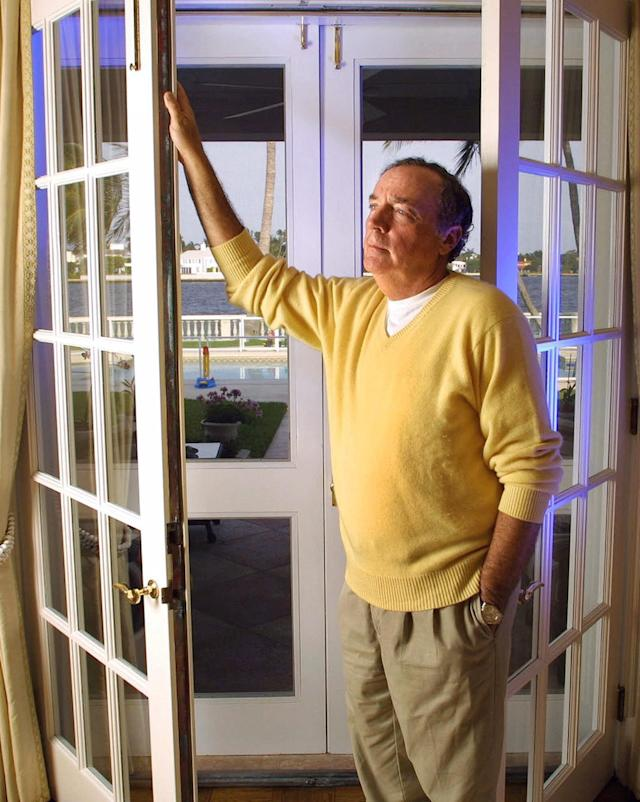 <p>No. 9: James Patterson<br> The 70-year-old American novelist (pictured here in Florida in 2001) sold 9.5 million copies in his home country alone over the last 12 months, raking in $87 million. He also recieved a purported seven figure sum as a signing payment for co-writing a thriller with former U.S. president Bill Clinton.<br> (AP Photo/Craig Ambrosio) </p>