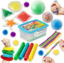 <p>If you can't decide on one sensory toy, why not try a variety with the <span>ZaxiDeel Sensory Toys</span> ($23). It comes with pop tubes, bean bags, a stress ball, squeeze balls, stretchy strings, spiky sensory balls, and a more inside a handy storage bin.</p>
