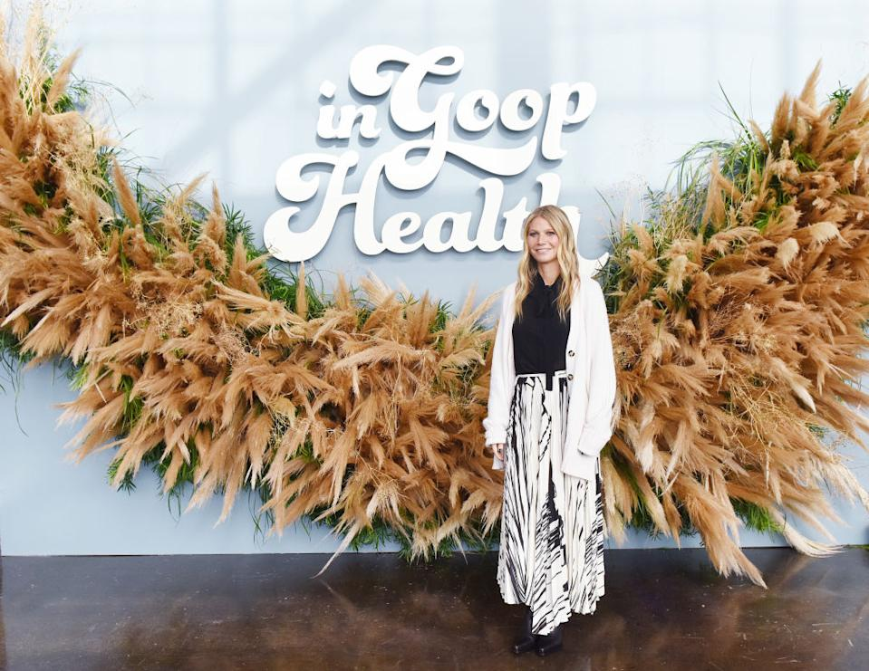 Goop's 'vagina' candle sold out earlier this year, pictured at the In Goop Health conference in November 2019. (Getty Images)