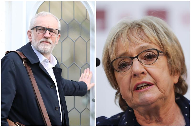 Jeremy Corbyn and Margaret Hodge (PA)