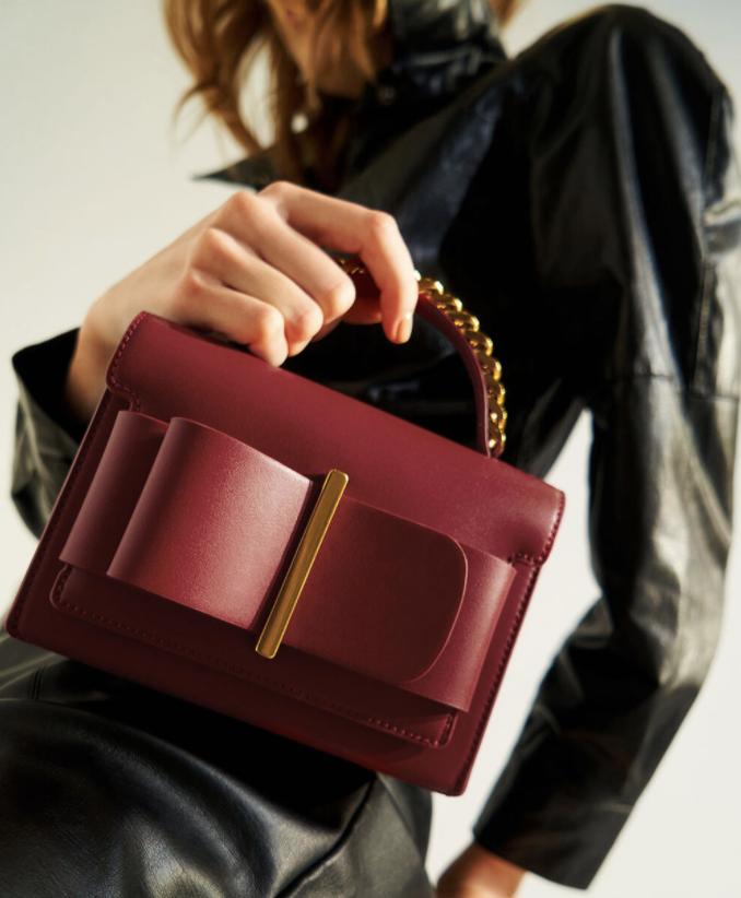 PHOTO: Charles & Keith. Bow Top Handle Bag