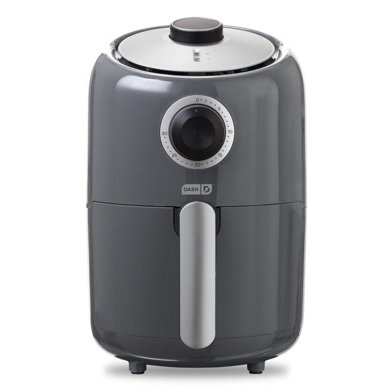 DASH Compact Air Fryer in Grey.