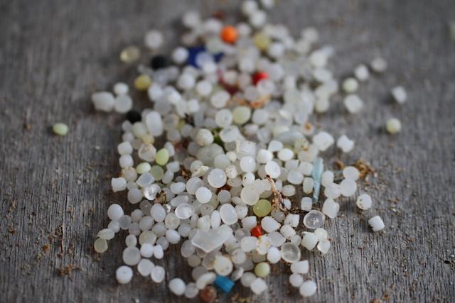 Nurdles, seen here, are small plastic pellets that pollute beaches and kill sea life.