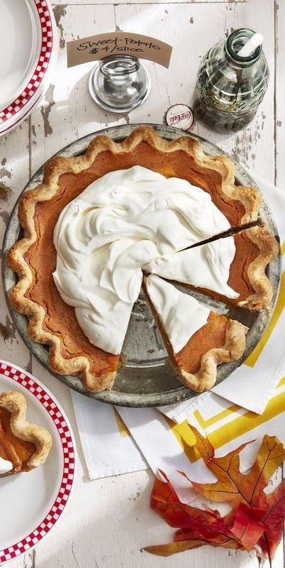 """<p>Packed with fresh ginger, this isn't your grandma's sweet potato pie—but we think she'd approve. A tart, zesty topping (made with a mix of sour and heavy cream) is the finishing touch.</p><p><strong><a href=""""https://www.countryliving.com/food-drinks/a24279831/gingery-sweet-potato-pie-recipe/"""" target=""""_blank"""">Get the recipe.</a></strong></p><p><strong><strong><strong><a class=""""body-btn-link"""" href=""""https://www.amazon.com/gp/product/B00004OCMB?tag=syn-yahoo-20&ascsubtag=%5Bartid%7C10050.g.3792%5Bsrc%7Cyahoo-us"""" target=""""_blank"""">SHOP PIE SERVERS</a></strong></strong><br></strong></p>"""