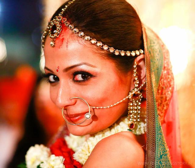 Shonal Rawat wears traditional jadau jewellery to her Mumbai wedding