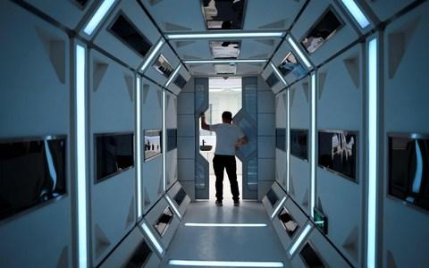 """A man visits """"Mars Base 1"""", a C-Space Project, in the Gobi desert - Credit: Wang Zhao AFP"""