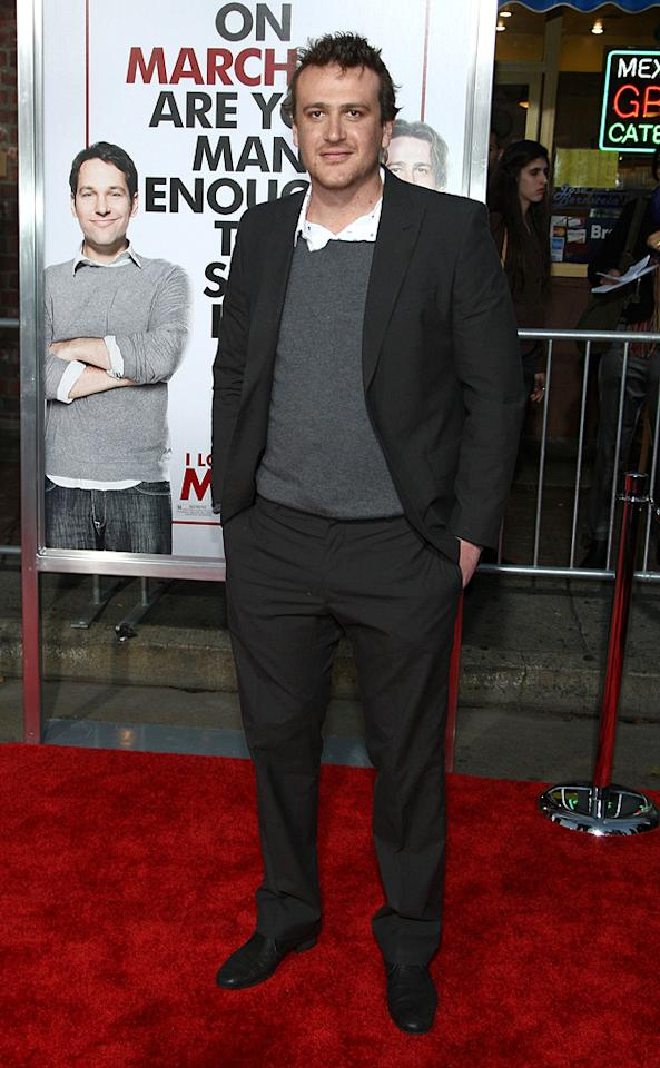 "<a href=""http://movies.yahoo.com/movie/contributor/1800019331"">Jason Segel</a> at the Los Angeles premiere of <a href=""http://movies.yahoo.com/movie/1810022085/info"">I Love You, Man</a> - 03/17/2009"