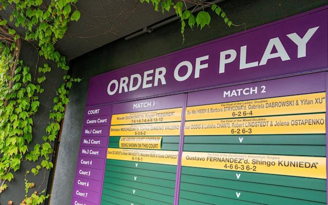 There will be no play at Wimbledon this year - AP
