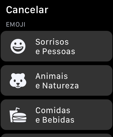 Desça para ver todas as categorias de emojis. Captura de tela: Lucas Wetten (Canaltech)
